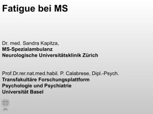 Fatigue bei MS
