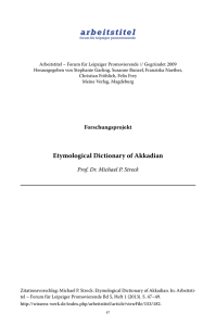 Etymological Dictionary of Akkadian