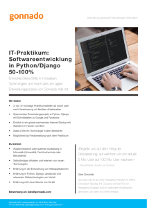 IT-Praktikum: Softwareentwicklung in Python/Django 50-100%