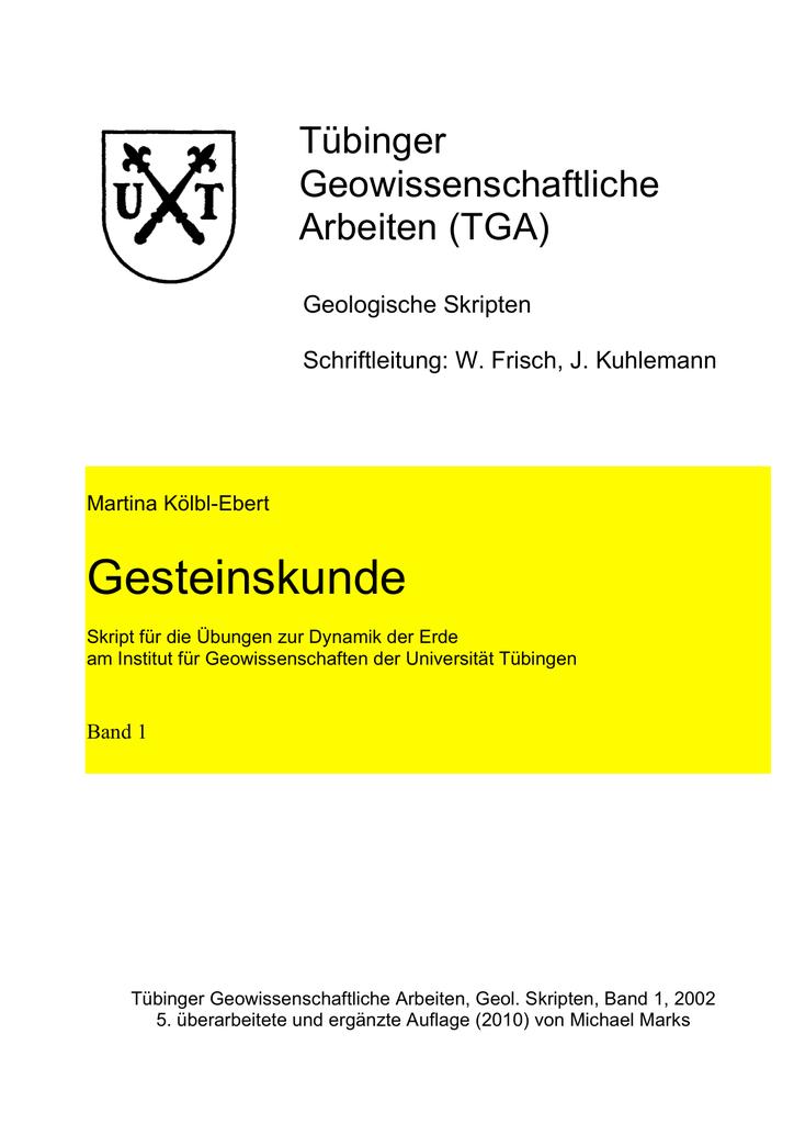 Gesteinskunde - Universität Tübingen