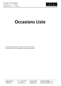 Occasions Liste