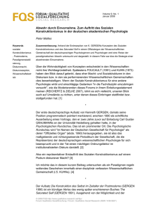 FORUM : QUALITATIVE SOZIALFORSCHUNG SOCIAL RESEARCH