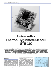 Universelles Thermo-Hygrometer-Modul UTH 100