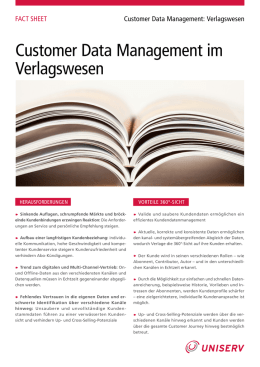 Customer Data Management im Verlagswesen