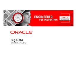 Big Data - Oracle Data Warehouse Community Seite
