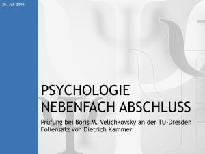 Psychologie - The Falling Leaves Project
