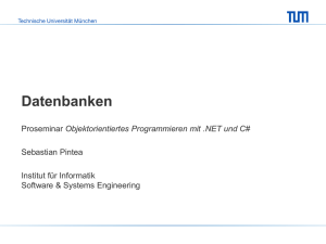 Datenbanken - Software and Systems Engineering