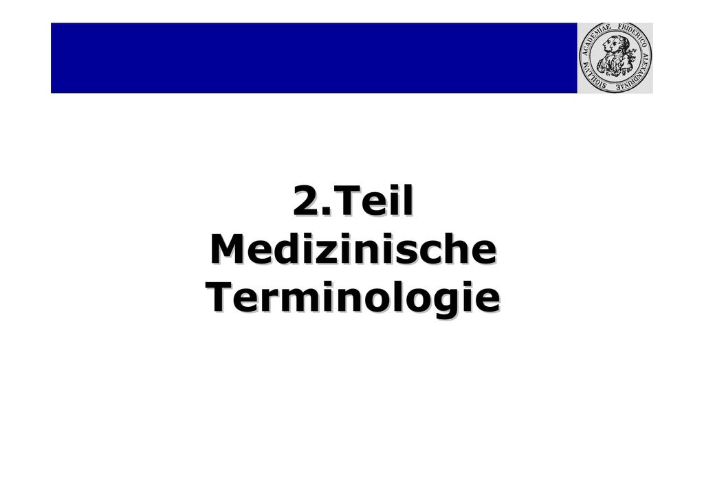 Medizinische Terminologie Blut