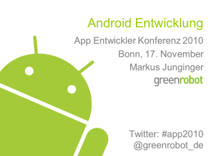 Android Entwicklung
