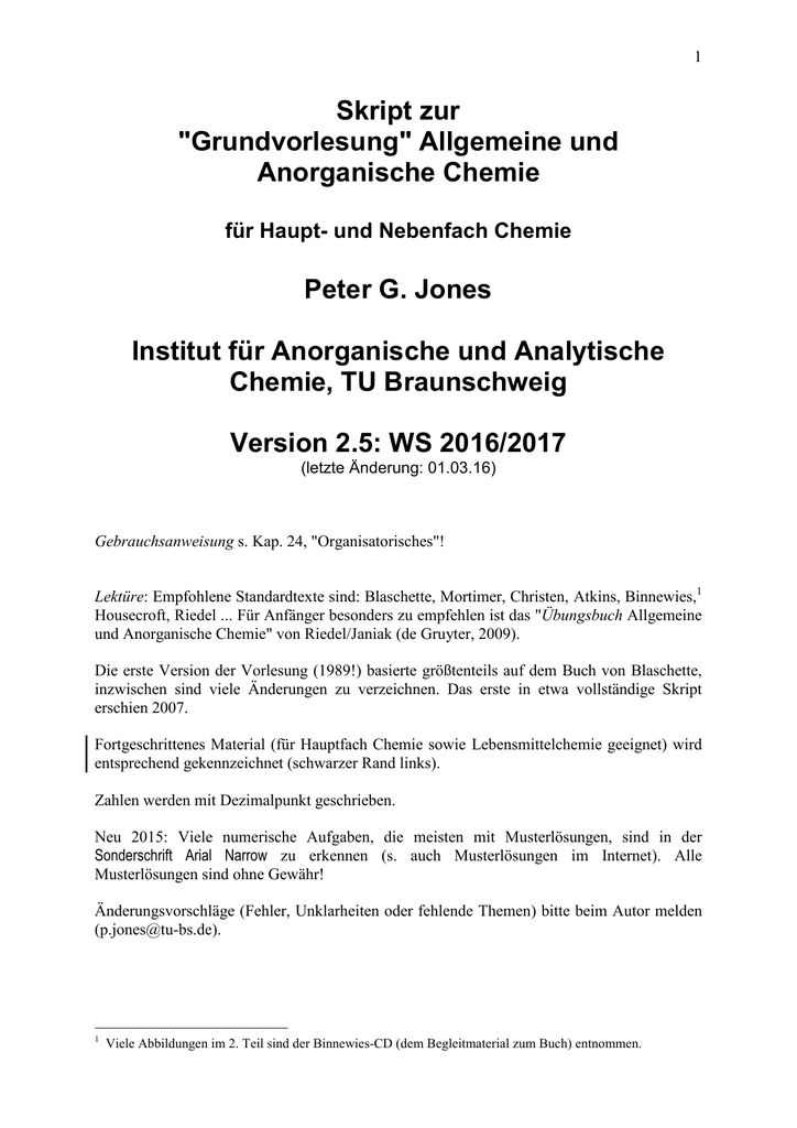 Skript zur VL (pdf, 7 MByte) - Technische Universität Braunschweig