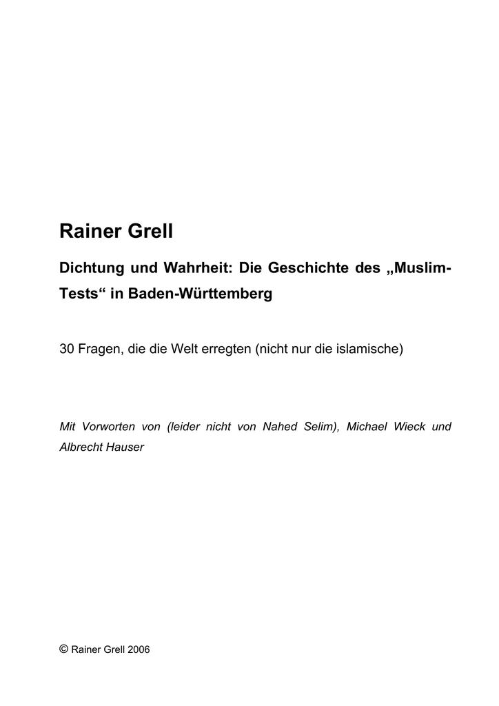 """Die Geschichte des """"Muslim"""