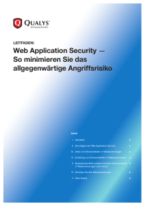 LEITFADEN: Web Application Security
