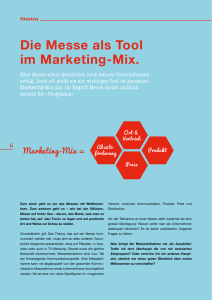 Die Messe als Tool im Marketing-Mix.