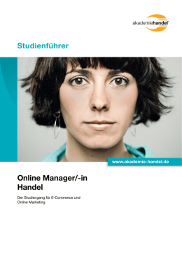 Studienführer Online Manager/-in Handel