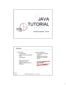 java tutorial - Distributed Computing Group