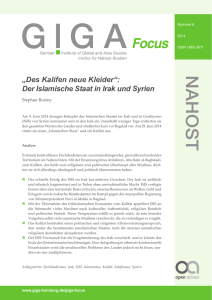 Des Kalifen neue Kleider - GIGA | German Institute of Global and