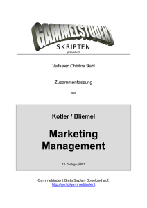Marketing Zusammenfassung (deutsch) - AG-BWZ