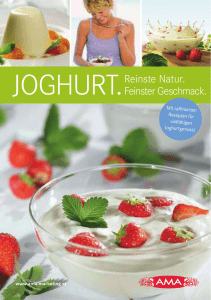 Joghurt Broschuere - Shop Ama Marketing