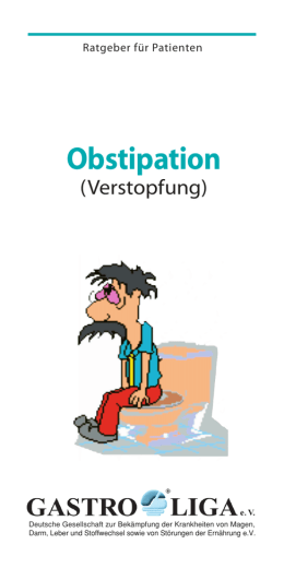 Obstipation - Isar Enddarmzentrum