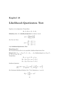 Likelihood-Quotienten Test