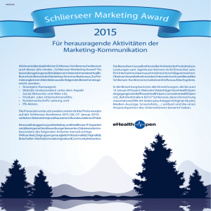 Schlie rseer Marketing Award - Schliersee