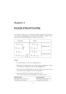 elektrostatik - Fakult at f ur Physik