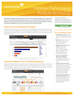 Database Performance Analyzer für MySQL