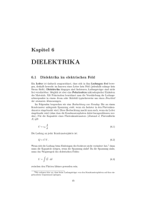 dielektrika - Fakult at f ur Physik