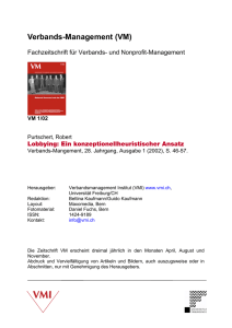 Verbands-Management (VM) - Verbandsmanagement Institut