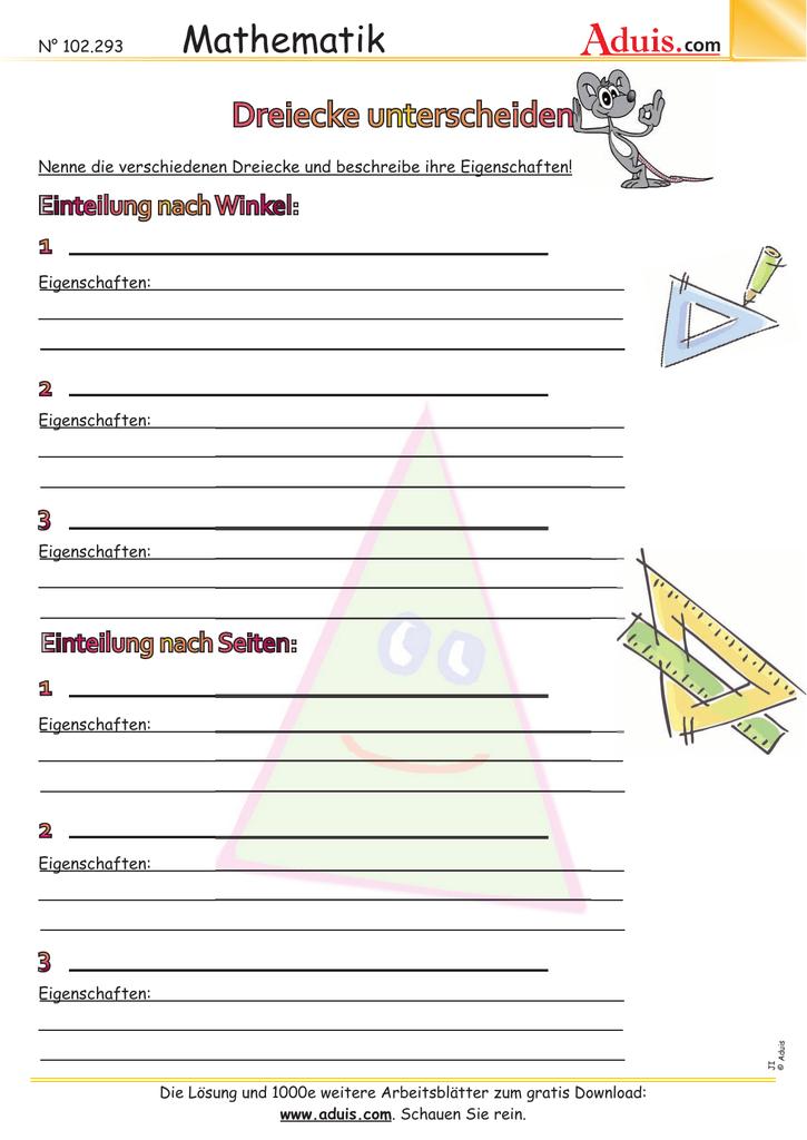 Dreiecke unterscheiden