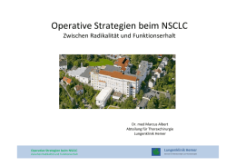 Operative Strategien beim NSCLC