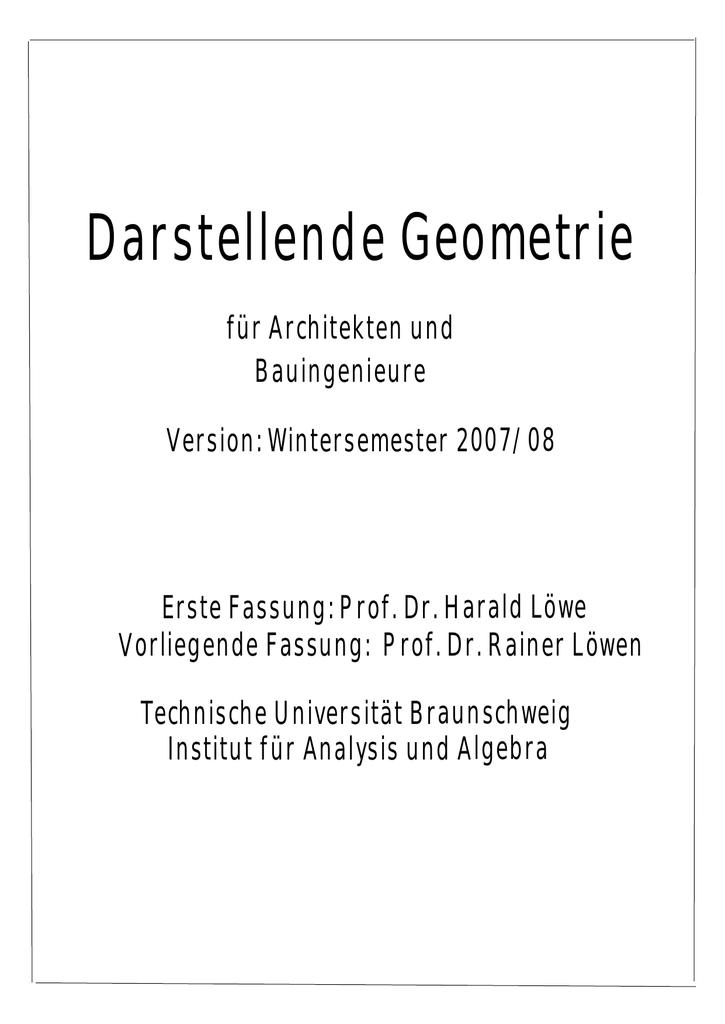 Darstellende Geometrie - Technische Universität Braunschweig