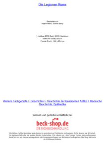 Die Legionen Roms - ReadingSample - Beck-Shop