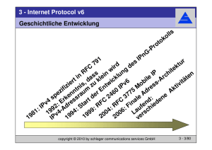 3 - Internet Protocol v6 - schlager communications services GmbH