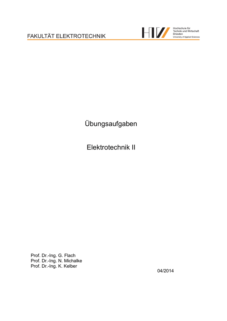 Übungsaufgaben Elektrotechnik II