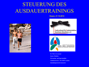 Trainingssteurung - Praxis Levasseur