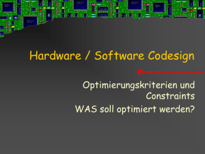Hardware / Software Codesign