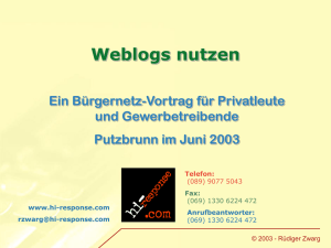 Weblogs (PPT 104 kB)