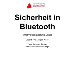 Sicherheit in Bluetooth-Präsentationn - Hit - FH