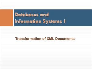 Transformation of XML Documents