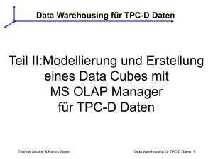 Data Warehousing für TPC