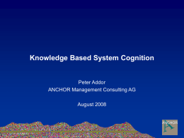 Knowledge Based System Cognition