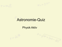 AstronomieQuiz - Physikunterricht.at
