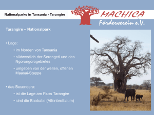 Nationalparks in Tansania