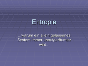 Entropie - Physikunterricht.at