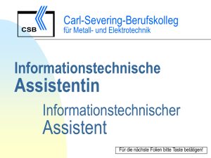 Informationstechnische Assistentin Informationstechnischer Assistent
