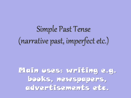 Simple Past Tense - Frau Flints Klasse 10 Deutsch