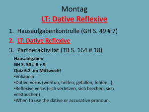 LT: Dative Reflexive