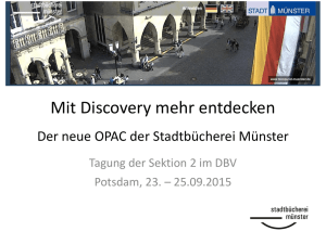 Discovery-Opac Münster