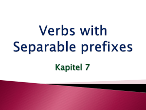 Verbs with Separable prefixes